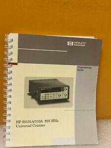 Hp Agilent 53131 90044 Hp 53131a 132a 225 Mhz Universal Counter Prog Guide