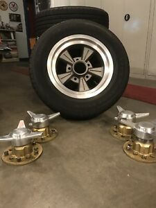 Vintage Authentic Set 4 Ansen Aaa Knock Off Style Racing Wheels And Tires Mint