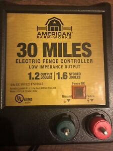 30 Miles Electric Fence Controller Box