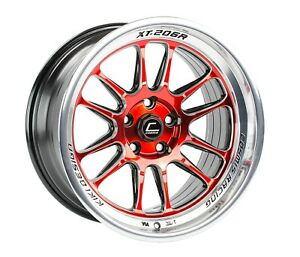 Cosmis Racing Xt 206r Red With Machined Lip 18x11 8 5x114 3