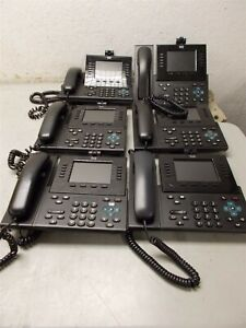 6 Cisco 9951 Ip Voip Phones
