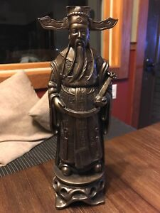 Chinese 12 Fengshui Bronze Colored Emperor Figurine Statue Mint