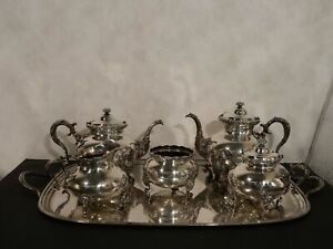 Schumann S Sons Sterling Silver Tea Set 5pc With Tray