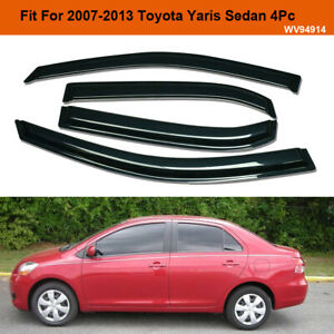 For 2007 2013 Toyota Yaris Smoke Window Vent Visor Sun Rain Guard Deflector 4pc
