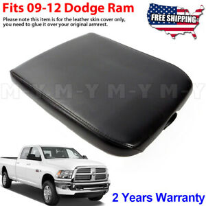 Fits 2009 2012 Dodge Ram Armrest Console Lid Leather Oem Replacement Cover Black