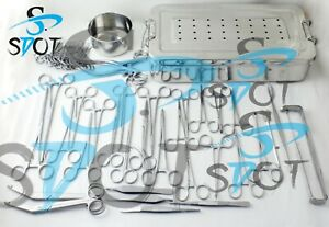 Deluxe Veterinary Surgery Instruments Kit High Grade Stainless Steel Sdot