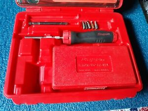 Snap On Soft Grip Ratchet Screwdriver Sgdmrc4a With Case And Attachments