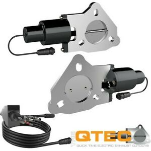 Qtp 2 25in Bolt on Qtec Dual Electric Cutout Valves Pair