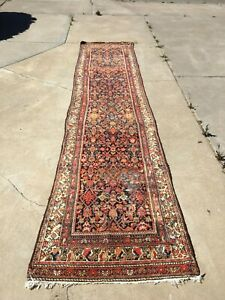 Antique Rug Runner Malayer Or Nw Persian C 1910 1930 13 7 Long X 36 Wide