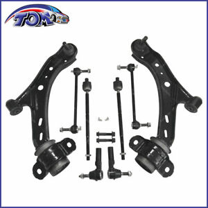8pcs Control Arms W Ball Joints Tie Rod Sway Bar Kit For 2005 2010 Ford Mustang