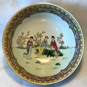 19th C Chinese Export Famille Rose Mille Fleur Punch Bowl 10