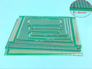 Double side Prototype Pcb Stripboard Universal Printed Circuit Board 8 Size