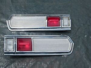 1966 66 Plymouth Sport Fury Right Left Inner Tail Lights Set 440 383 3x2 Nice