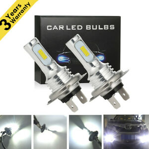 H7 Led Headlight Bulbs Conversion Kit Super High Low Beam 4000lm 6000k White 80w