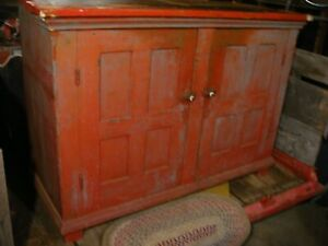 Door County 1894 Antique Wooden Cupboard Farm Kitchen Cabinet Pantry China Jelly