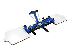4 Color 2 Station Manual Silk Screen Printing Press Machine For Clothing T shirt