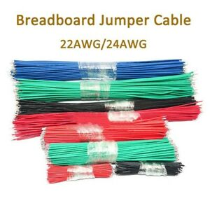 22 Awg 24 Awg Breadboard Jumper Cable Wires Double Ends Tin Plated 5cm 30cm