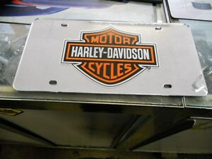 Harley Davidson Chrome Mirrored License Plate