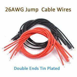 26awg Tin Plated Breadboard Jump Cable Wires Welding Cable Red Or Black 20cm