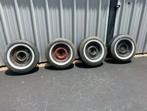 Chrysler Rims 1950 S And White Wall Radial Tires 235 75r15 With 2 Whitewall