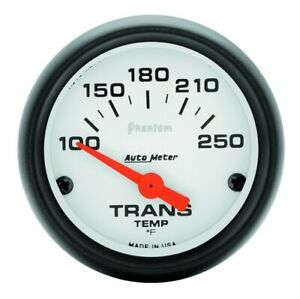 Auto Meter Phantom 52mm Short Sweep Electronic 100 250 Deg F Trans Temp Gauge