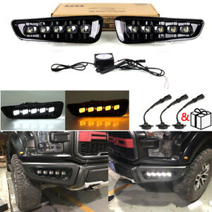 Perfect Fits Ford F 150 17 18 Raptor Switchback 5 led Dual Color Fog Lamps