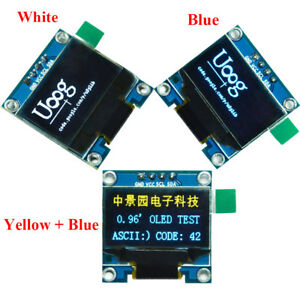 0 96inches I2c Iic Serial 128x64 Oled Lcd Led Display Module Ssd1306 For Arduino