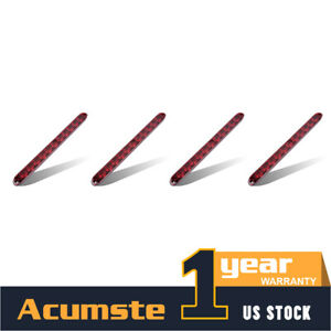 4x Stop Turn Brake Light Tail 3rd 11 led Bar Submersible Red 15 For Truck New