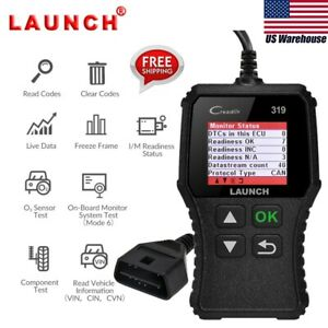Launch Creader 319 Cr319 Obdii Eobd Obd2 Car Code Reader Tool Diagnostic Scanner