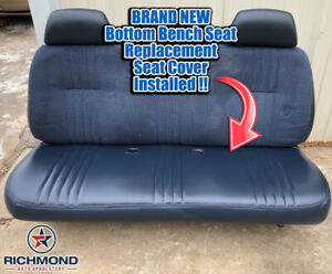 1998 Chevy Silverado C k Work truck Base W t bottom Bench Seat Vinyl Cover Blue