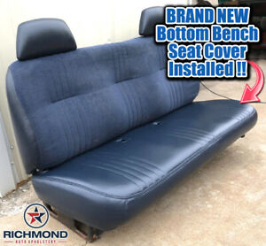 1995 2000 Chevy Cheyenne C K Work Truck Base Bottom Bench Seat Vinyl Cover Blue