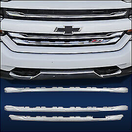 Chrome Grille Overlay 3 Pcs Fits 2016 2018 Chevy Silverado 1500 Lt Z71 Only