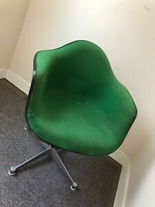 Herman Miller Upholstered Shell Swivel Chair 1982