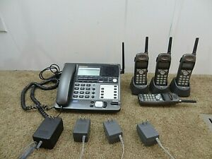 Panasonic Kx tg4000b 4 Line Business Phone System 4 Extension Phone Handsets