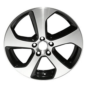 18 X 7 5 5 Twisted Spoke New For Volkswagen Alloy Wheel Machined And Black