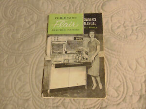 Frigidaire Flair Electric Range Owner S Manual 1961 Good Condition