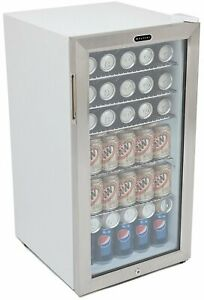 Commercial Stainless Steel Beverage Refrigerator Glassdoor Compact Cylinder Lock