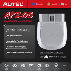 Autel Diagnostic Scanner Bluetooth Obd2 Adapter For Iphone Ipad Android As Mk808