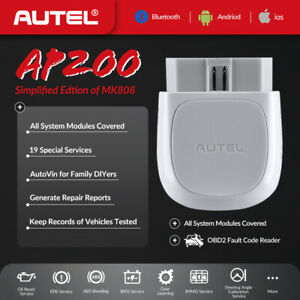 Autel Bluetooth Obd2adapter Scanner App Maxiap200for Iphone Ipad Android Asmk808