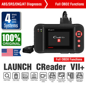 Launch Obd2 Scanner Car Abs Srs Engine Obdii Scan Erase Diagnostic Tool 4 System