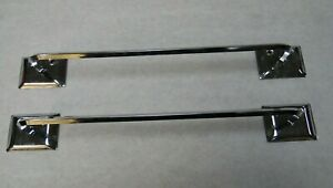 Vintage Lot Of 2 Chrome 12 Towel Bars Excellent Condition Free Shipping