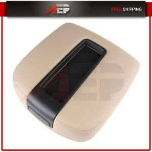 Front Center Console Armrest Lid Assembly For Chevy Gmc Silverado Sierra Beige