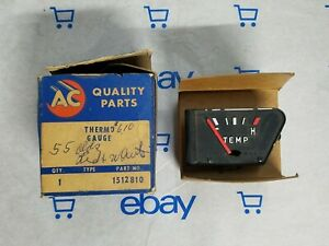 1512810 Ac Delco Temperature Gauge New Vintage Part In Original Box Nos