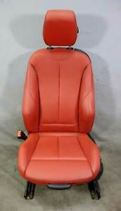 2014 2015 Bmw F32 4 series F22 Left Front Driver s Sports Seat Coral Red Leather