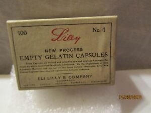 1900 S New Process Empty Gelatin Capsules By Eli Lilly Co Indianapolis Ind