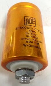Roe Capacitor Iec Type 1 22 000 Uf 10 50 40v