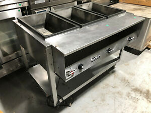 Vollrath 38003 Servewell Electric 3 Pan Hot Food Table 120v 3 Well Steam Table