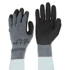 Showa Best Atlas 300b Black Rubber Dipped Work Gloves Various Quantities