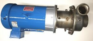 Used Corcoran Chemical 3x2 Pump 3000dh Ss W Double Seal For Vacuum 7 5 Hp Alar