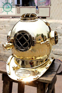 Morse Equipment Us Navy Diving Divers Helmet Solid Brass Deep Sea Scuba Gift